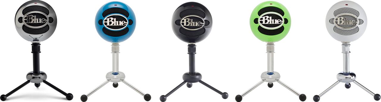 расцветки микрофона Blue snowball