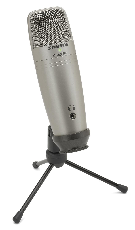 установка на триногу микрофона C01U PRO USB