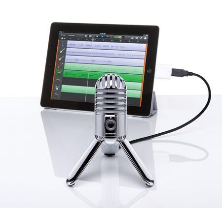 Meteor Mic подключен к планшету